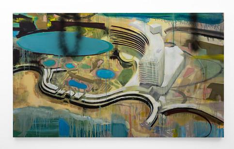 Kate Gottgens | The Last Resort | 2018 | Oil on Canvas | 130 x 220 cm