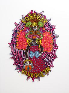 Jody Paulsen | Forever Your Queen | 2018 | Felt Collage | 206 x 145 cm