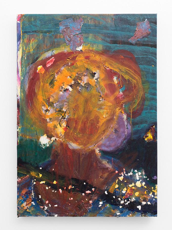 Mostaff Muchawaya   Untitled   2018   Acrylic on Canvas   79 x 55.5 cm