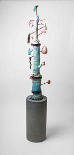 Marlene Steyn | My other half's other half | 2016 | Oil on Ceramic and Wood | 150 x 19 cm