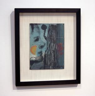 Simon Stone   Orange Cheek   2014   Oil on Cardboard   32.5 x 18 cm