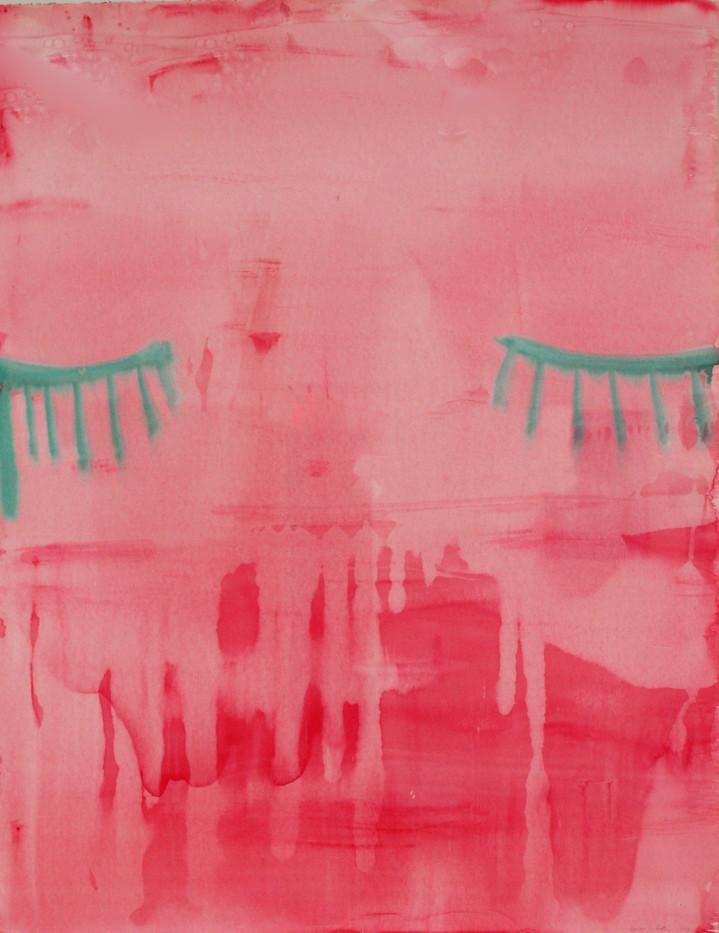 Georgina Gratrix   Blink   2012   Watercolour on Paper   152 x 122 cm