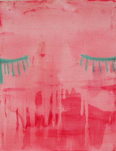 Georgina Gratrix | Blink | 2012 | Watercolour on Paper | 152 x 122 cm