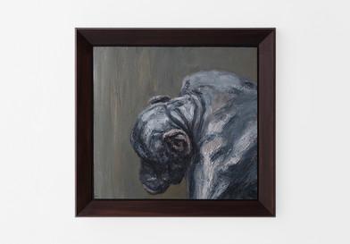 Johann Louw | Portret van die Groot Aap | 2017 | Oil on Panel | 61 x 66 cm