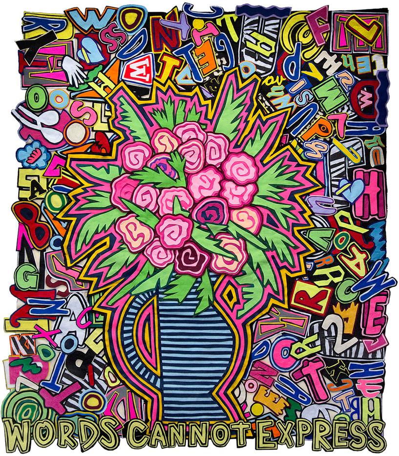 Jody Paulsen | Words Cannot Express | 2017 | Felt Collage | 135 x 113 cm
