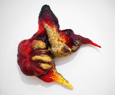 Frances Goodman | Lilith | 2015 | Acrylic Nails, Foam, Resin, Silicone Glue | 142 x 138 x 38 cm