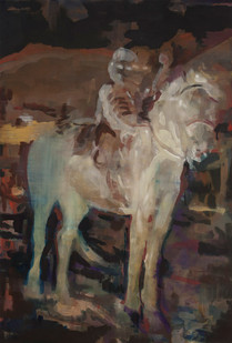 Kate Gottgens | Young Death on a Horse | 2014 | Oil on Canvas | 145 x 102 cm