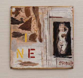 Simon Stone   INE   2016   Oil on Cardboard   17,5 x 18 cm