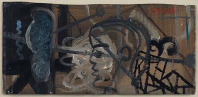 Simon Stone   Broken Eye   2014   Oil on Cardboard   41 x 19.5 cm