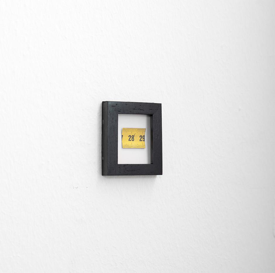 Ruann Coleman   Self Portrait   2017   Measuring Tape   6 x 5 cm