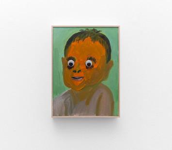 Georgina Gratrix | Orange Google Eyes | 2017 | Oil on Canvas | 55 x 40 cm