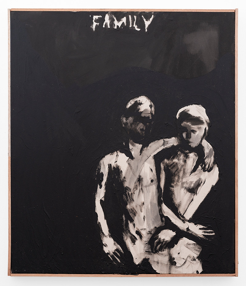 Brett Seiler | Family (Alek and Brett) | 2019 | Paint on Canvas | 72 x 62 cm