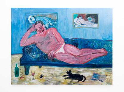 Georgina Gratrix | Muse | 2018 | Oil on Canvas | 190 x 250 cm