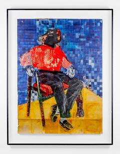 Gareth Nyandoro | Untitled (Seated Figure) | n.d. | Mixed Media | 126 x 92 cm