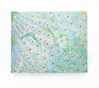 Marlene Steyn   cloud did land shape   2020   Acrylic on Canvas Board   40 x 50.5 cm