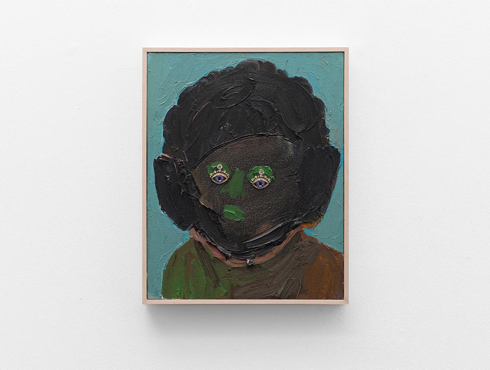 Georgina Gratrix | Bling Eyes | 2017 | Oil on Canvas | 50 x 40 cm
