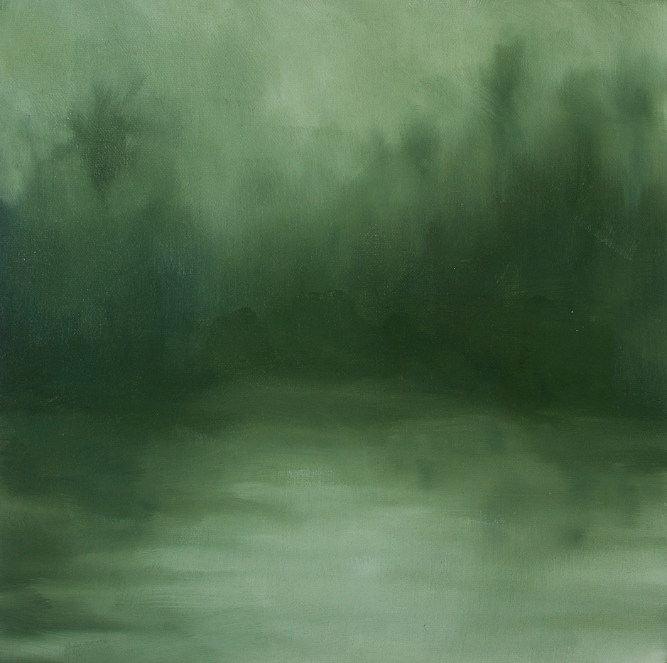 Jake Aikman   S10.266, E120,390 (Inlet)   2013   Oil on Canvas   30 x 30 cm
