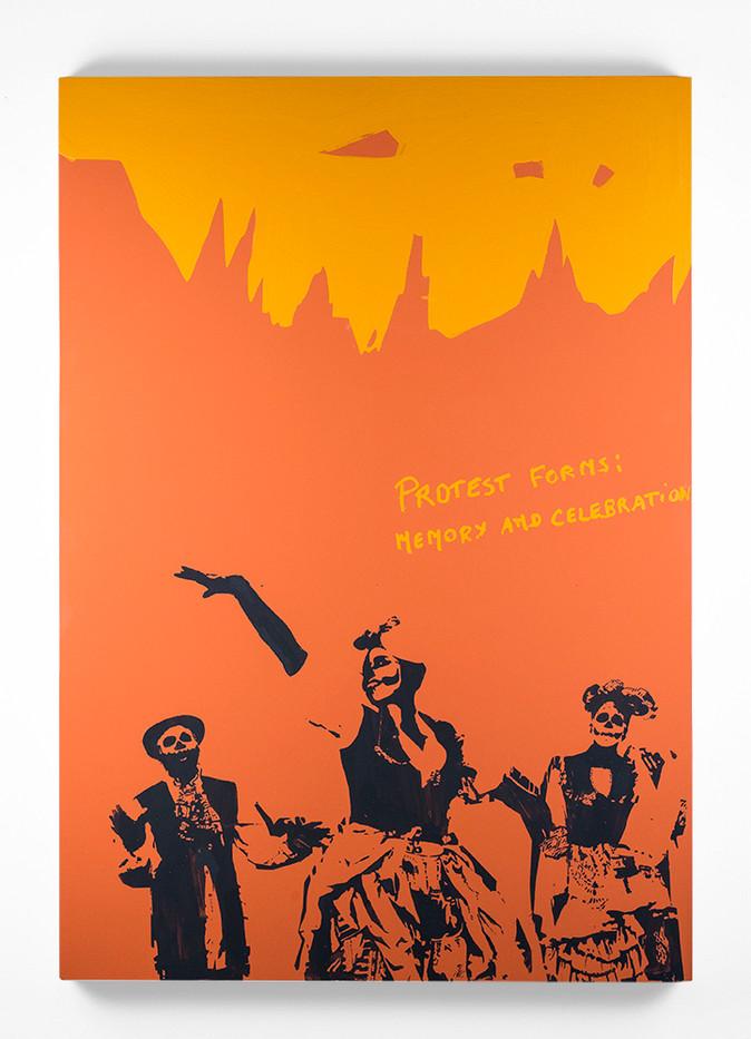 Marinella Senatore | Protest Forms #3 | 2013 | Lacquer on Canvas | 100 x 70 cm