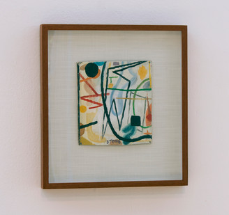 Simon Stone   Left Hook   2014   Oil on Cardboard   20 x 18 cm