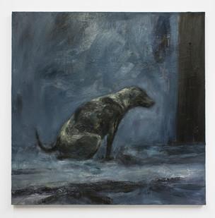 Johann Louw | Sittende Hond II | 2014 | Oil on Canvas | 91 x 91 cm