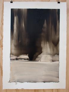 Alexandra Karakashian | Collapse (Study I) | 2015 | Oil on Paper | 75 x 54 cm
