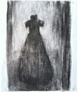 Johann Louw   Rok Frontaal   2016   Charcoal on Paper   158 x 127 cm