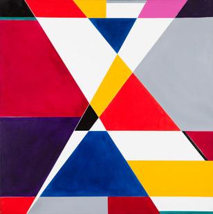 Hannatjie van der Wat | Mix and Match | 2003 | Liquitex on Canvas | 91.5 x 91.5 cm