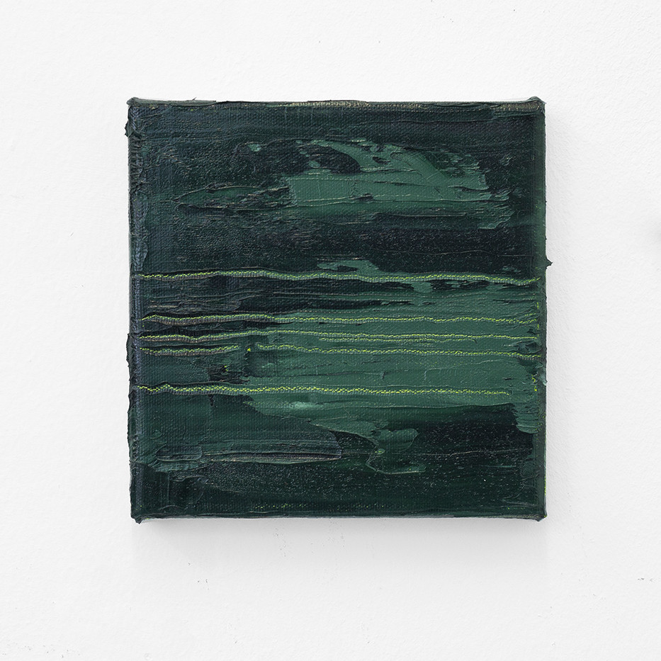 Jake Aikman | Nocturne (Green I) | 2017 | Oil on Canvas | 15 x 15 cm