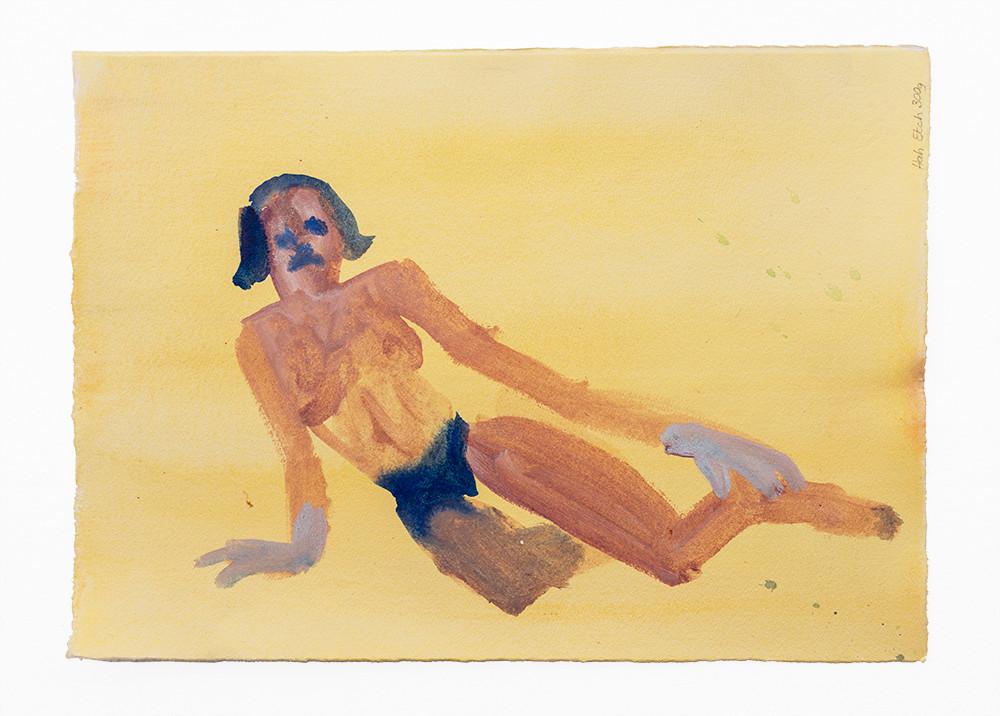 Georgina Gratrix | Julia Reclining | 2020 | Watercolour on Paper | 28 x 38.8 cm