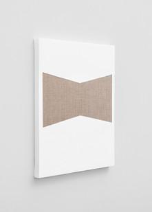 Pierre Vermeulen | Gesso Space nr 4 (Side View) | 2020 | Gesso on Belgian Linen | 50 x 40 cm