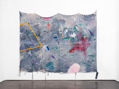 Mongezi Ncaphayi | Untitled | 2020 | Indian Ink and Watercolour on Fabric | 318 x 437 cm