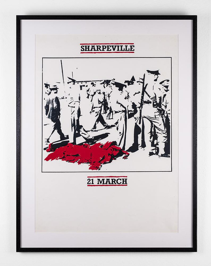 Lionel Davis | Sharpeville | 2009 | Screen Print on Paper | 63.5 x 45.5 cm