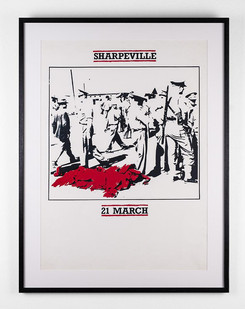 Lionel Davis | Sharpeville | 2009 | Screen Print on Paper | 63.5 x 45.5 cm