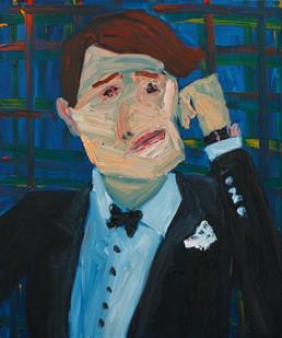 Georgina Gratrix | The Hugh | 2011 | Oil on Canvas | 91.5 x 77 cm