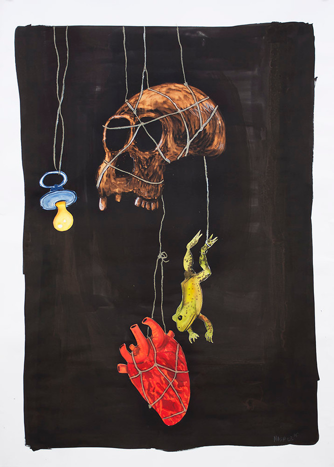 Colbert Mashile   The Prize   2015   Mixed Media on Paper   137 x 99 cm