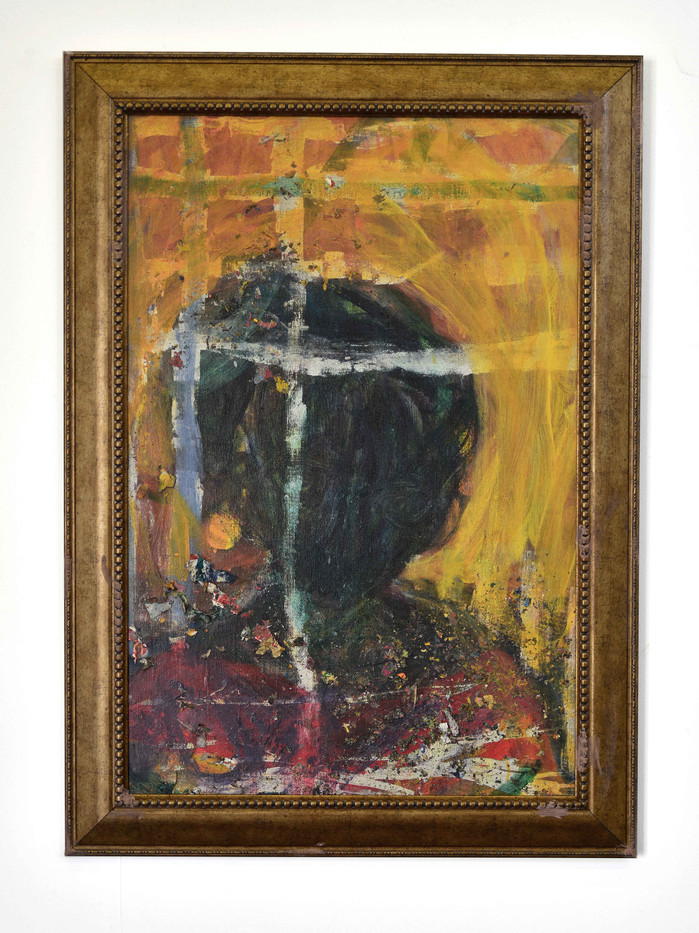 Mostaff Muchawaya | Untitled I | 2017 | Acrylic on Canvas | 118 x 84.5 cm