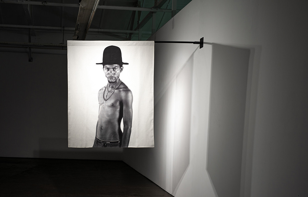 Musa N. Nxumalo | Story of O.J., After 4:44 (Floyd Avenue) | 2020 | Archival Pigment Print on Hemp Linen | 160 x 130 cm | Edition of 3  + 2 AP