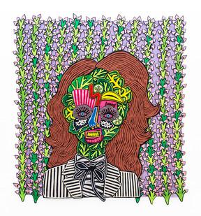 Jody Paulsen | Rocket Woman | 2020 | Felt Collage | 130 x 120 cm