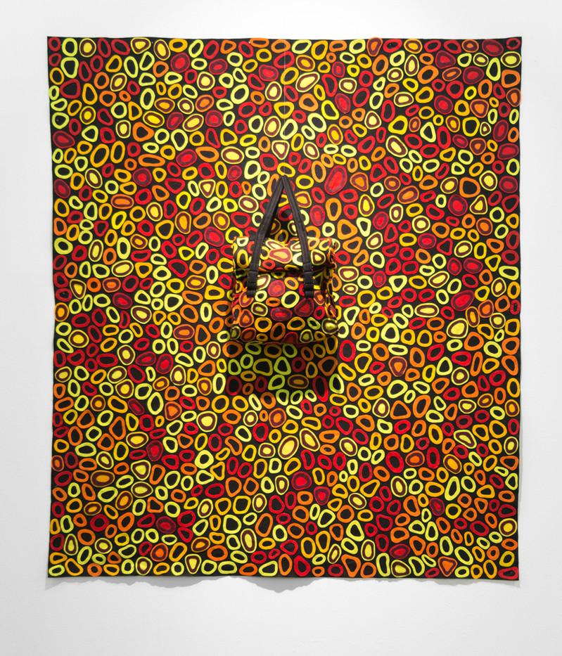 Jody Paulsen | Mirror Man (Red) | 2016 | Felt Collage | 188 x 168 cm