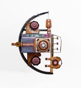 Cyrus Kabiru | Saxophone | 2020 | Steel and Found Objects | 86 x 60 x 15 cm