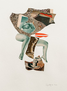 Kate Gottgens   Cubist Lover (topple it)   2020   Collage on Paper   76 x 57 cm