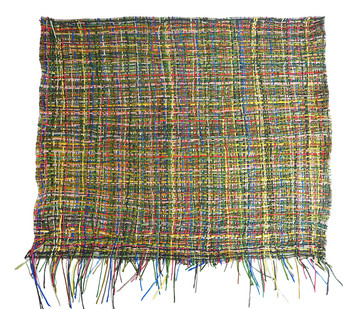 Gabrielle Kruger   Garden Mesh   2018   Woven Strips of Acrylic on Board   140 x 130 cm