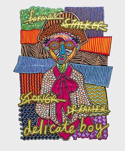 Jody Paulsen | Delicate Boy | 2017 | Felt Collage | 198 x 147 cm