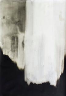 Alexandra Karakashian | Omit III | 2016 | Oil on Paper | 140 x 99 cm