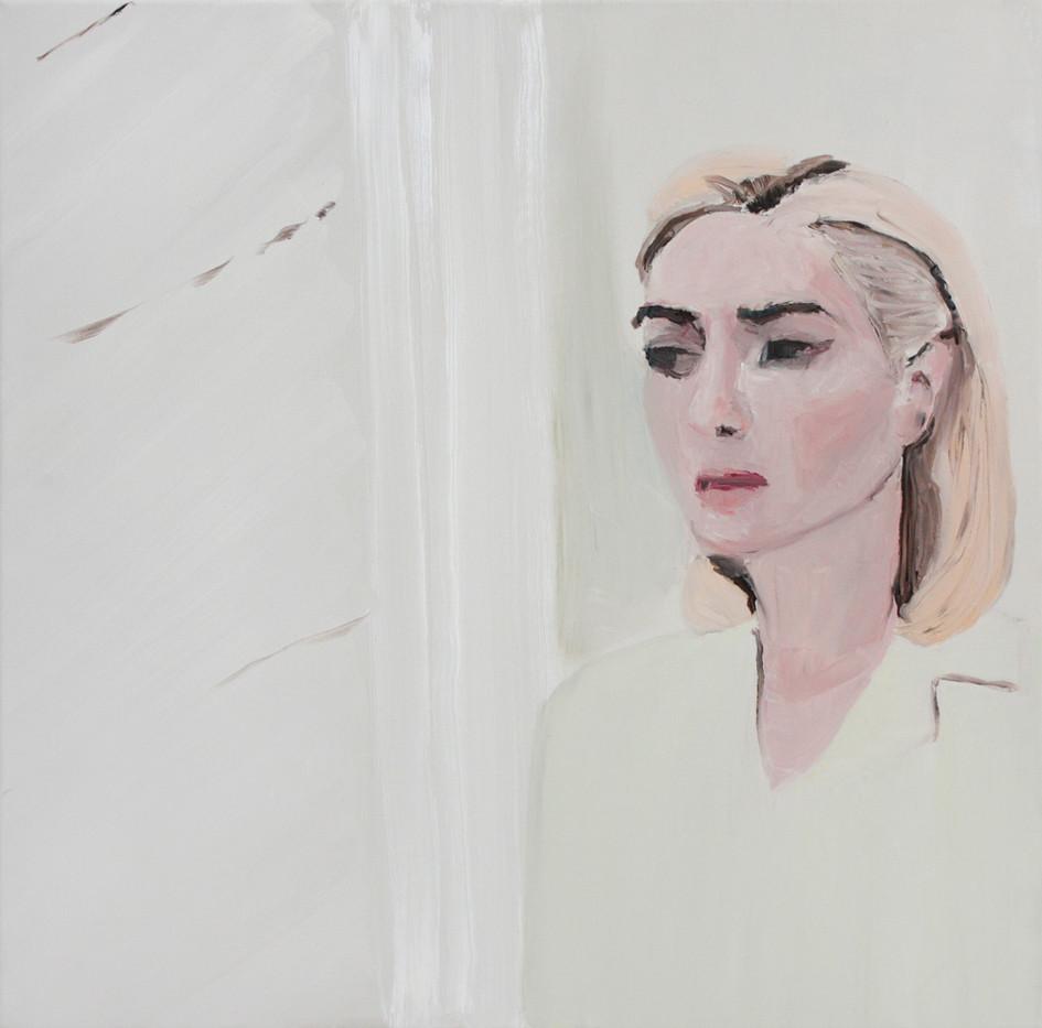 Luiza Cachalia   Sad Kate   2012   Oil on Canvas   61 x 61 cm