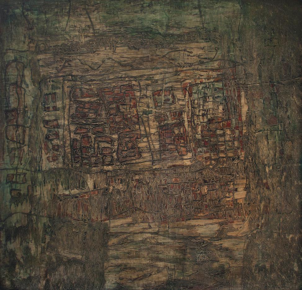 Georgina Ormiston | Untitled | 1961 | Oil over Gesso | 75.5 x 79 cm