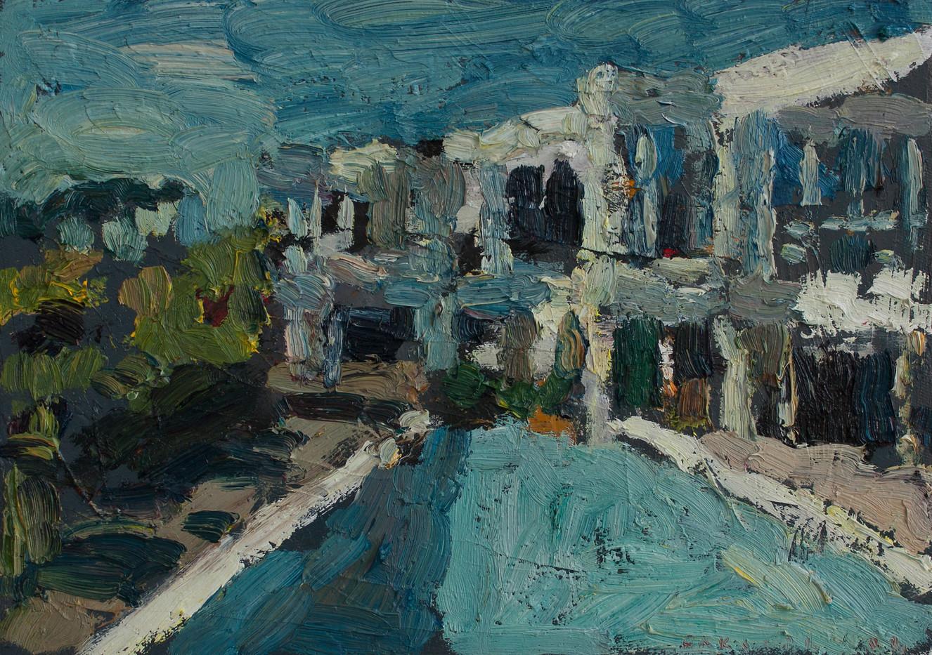 Anton Karstel | Property (Bishopscourt) | 2014 | Oil on Canvas | 22 x 31 cm