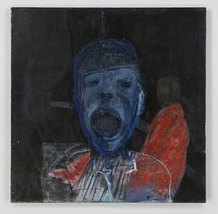 Albert Adams | Celebration Head - Open Mouth | 2000 | Oil on Canvas | 153 x 153 cm