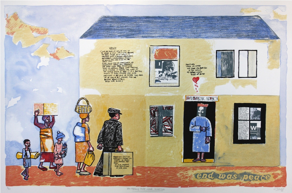 Peter Clarke | You Really Must Come Sometime | 2001 | Litho Print on Paper | 56.5 x 85 cm