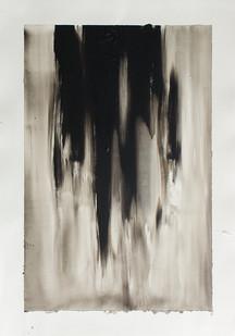 Alexandra Karakashian | Split V | 2016 | Oil on Paper | 76 x 56 cm